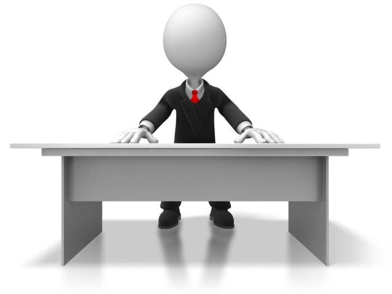 Clipart - Boss Behind Desk