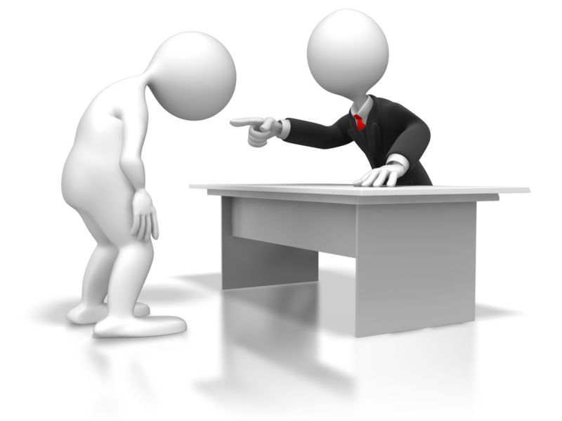 Clipart - Employee Disciplined