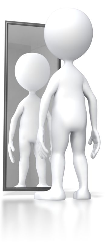 Clipart - Stick Figure Looking In Mirror