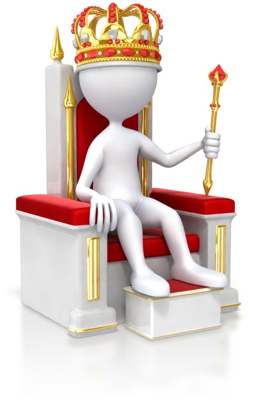 Clipart - Stick Figure King On Throne