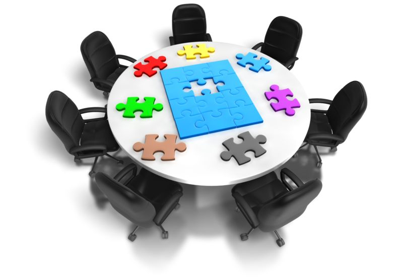 Clipart - Table Of Puzzle Pieces