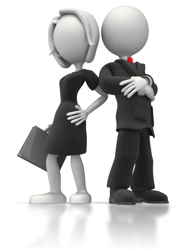 Clipart - Business Man And Woman