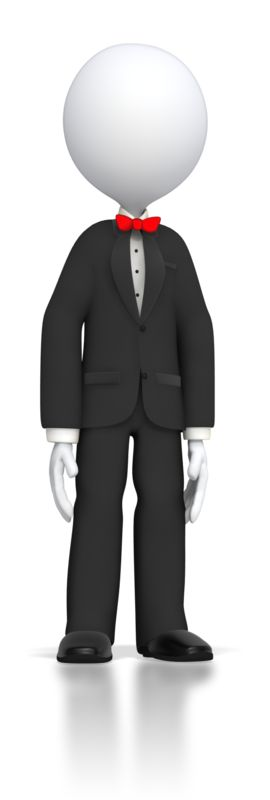 Clipart - Stick Figure In Tuxedo