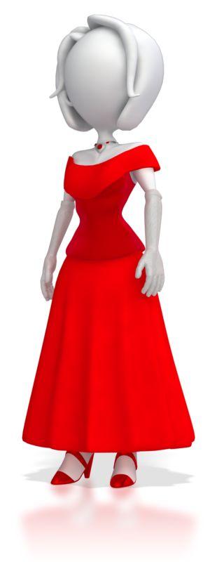 Clipart - Stick Figure in Elegant Dress