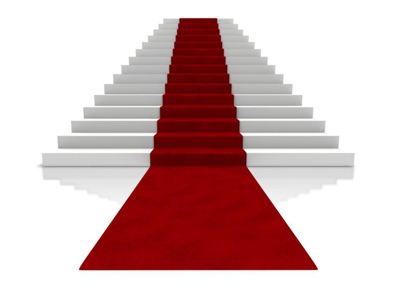Clipart - Big Steps With Carpet