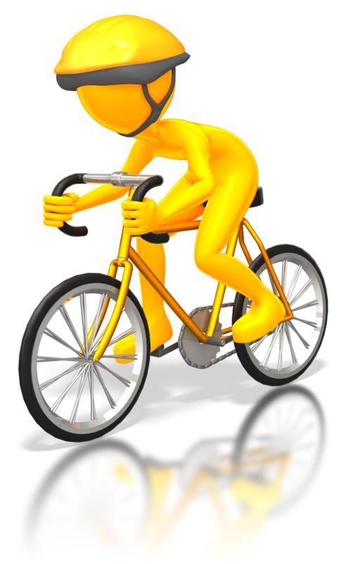 Clipart - Street Cyclist Racer