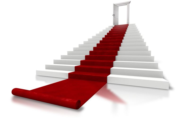 Clipart - Roll Out The Red Carpet Stairs