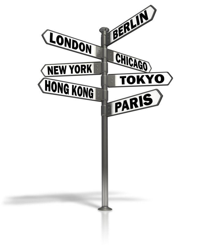 Clipart - Street Sign World Cities