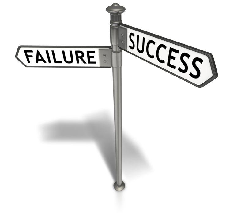 Clipart - Street Sign Success Failure