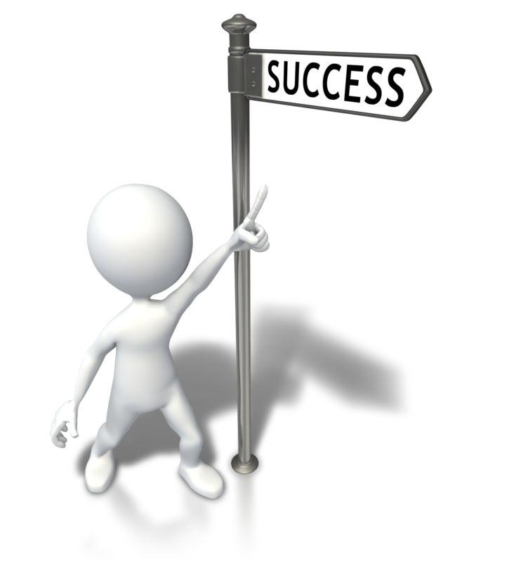 Clipart - Street Sign Stick Figure Success