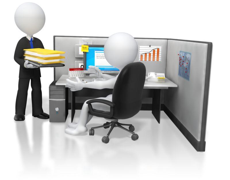Clipart - Boss Giving Office Work Task