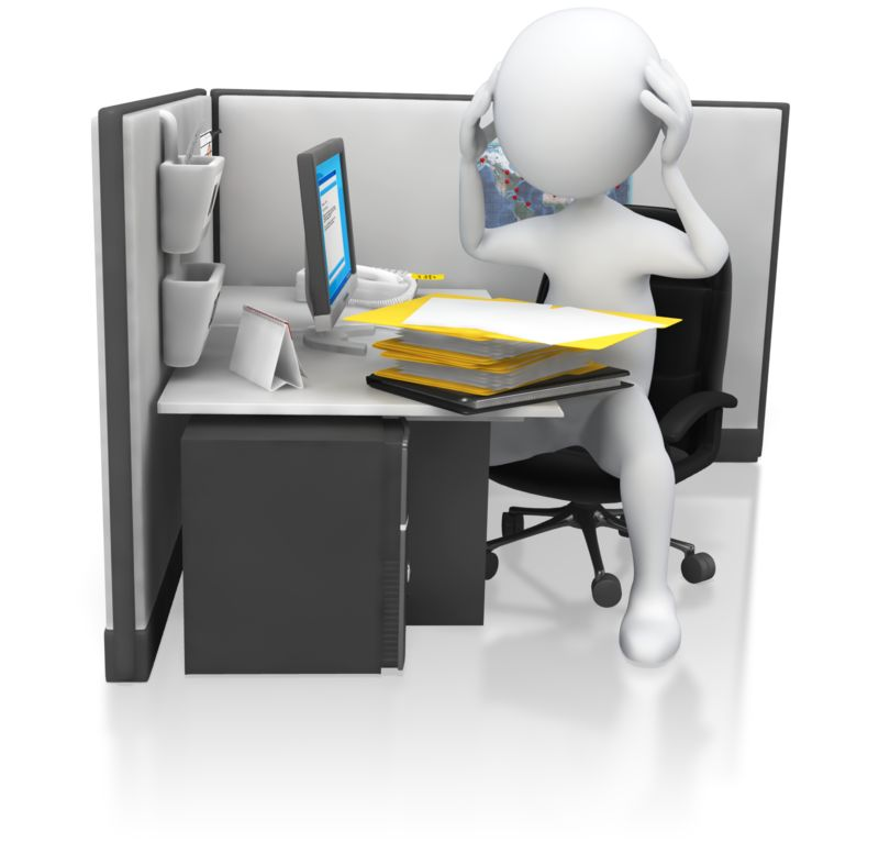 Clipart - Office Worker Getting Frustrated