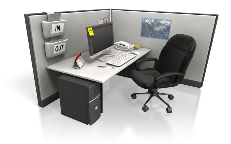 Clipart - Empty Cubicle Angle Two