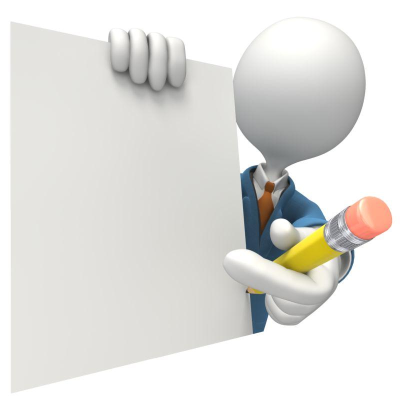 Clipart - Blank Document Salesman Signature