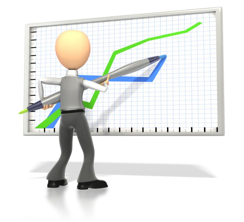 Clipart - Business Stick Figure Drawing Graph