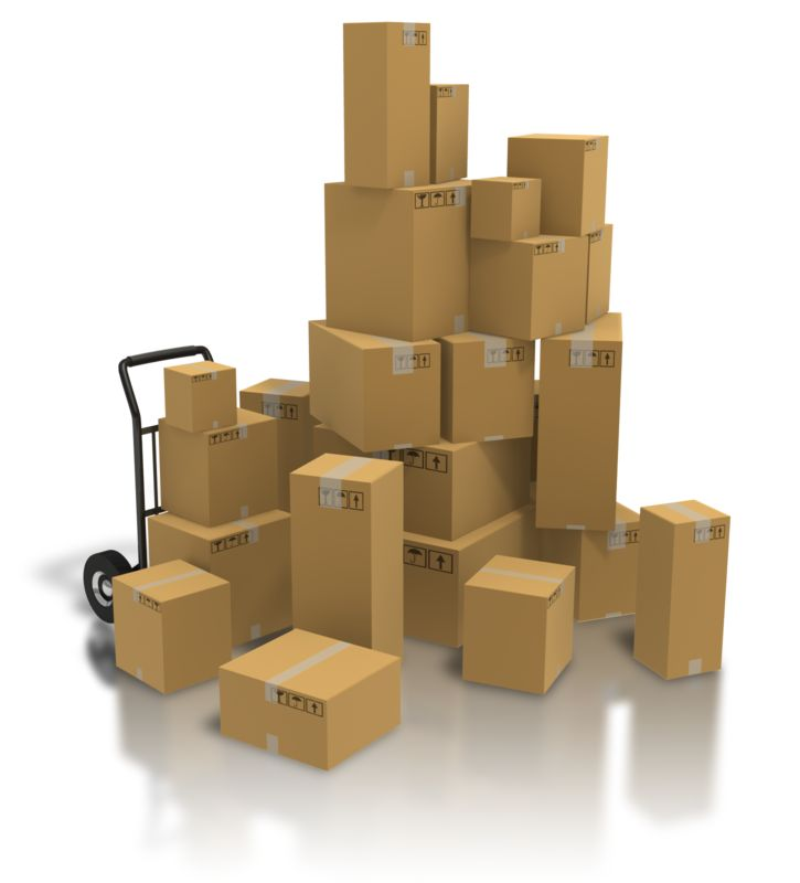 Clipart - Pile Of Shipping Boxes