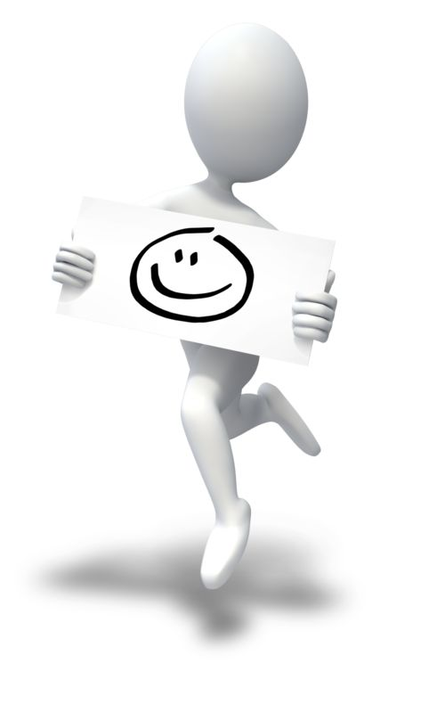 Clipart - Happy Face Stick Figure Jumping