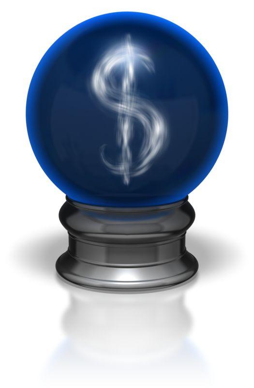 Clipart - Crystal Ball Dollar