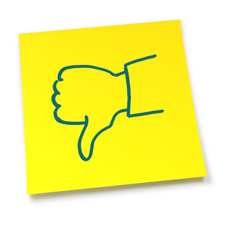 Clipart - Yellow Sticky Note Thumbs Down