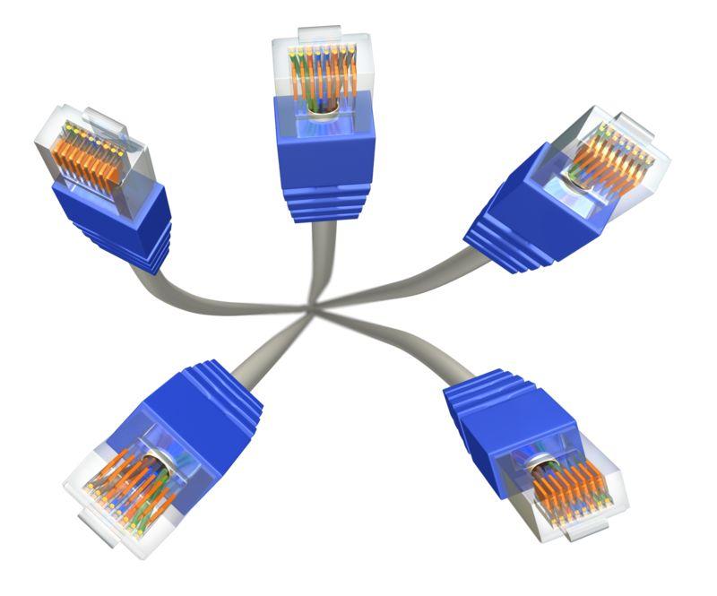 Clipart - Five Cat5 Cables
