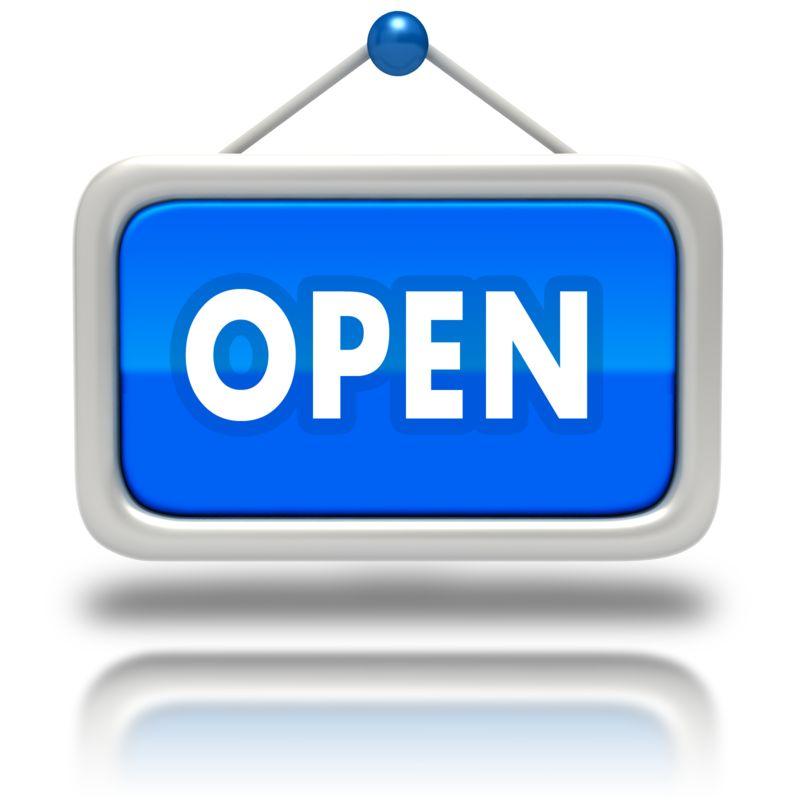 Clipart - Window Sign Open