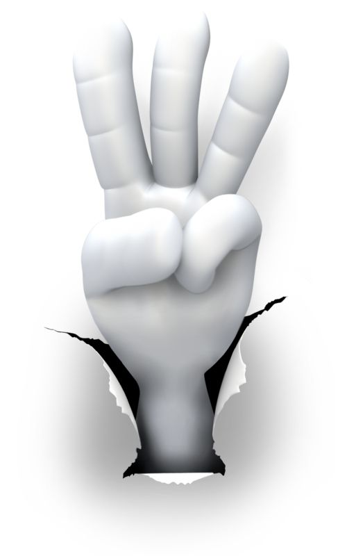 Clipart - Hole Hand Number Three