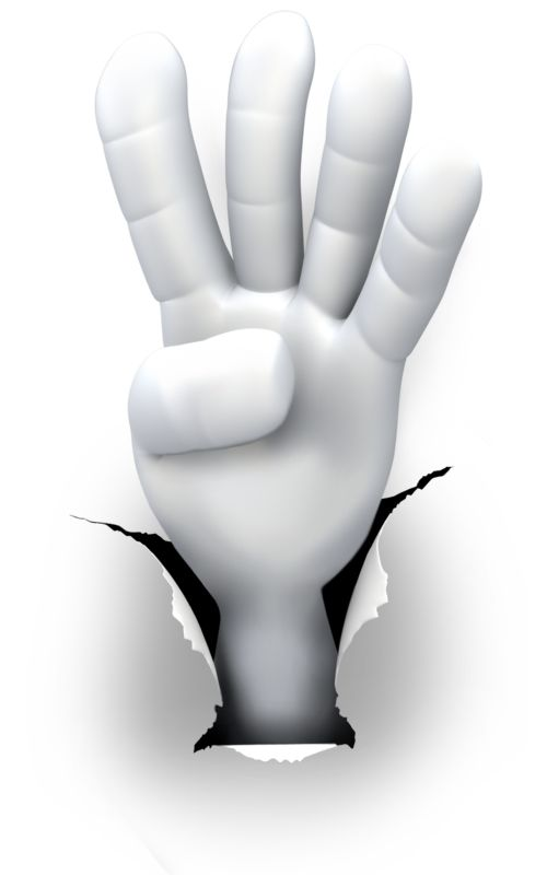Clipart - Hole Hand Number Four