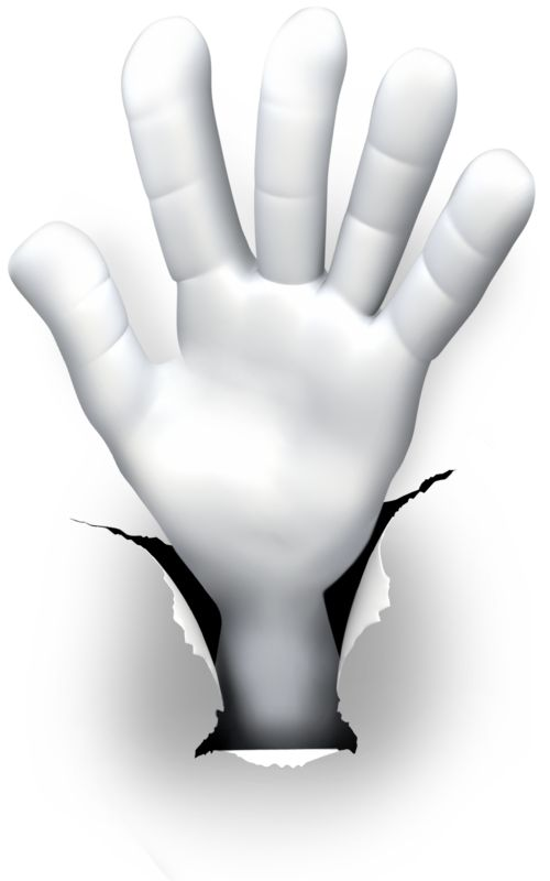 Clipart - Hole Hand Number Five