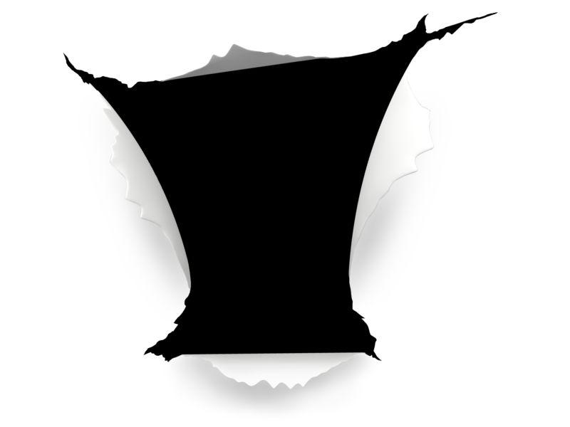 Clipart - Hole Paper Tear