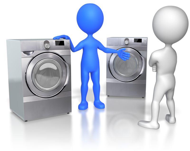 Clipart - Sales Figure Selling Appliances