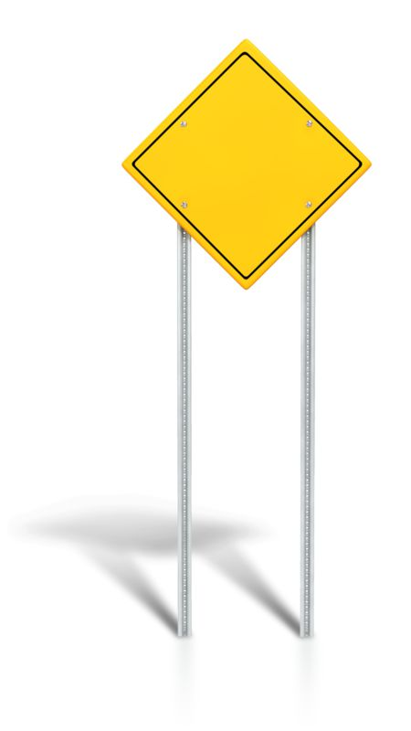 Clipart - Blank Road Sign