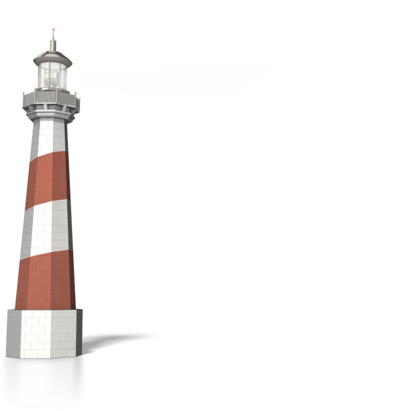 Clipart - Lighthouse with light Signal beam