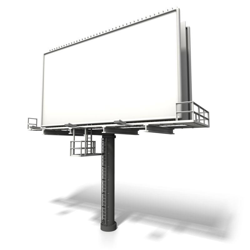 Clipart - Angled Billboard Display