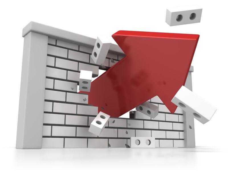 Clipart - Brick Wall Arrow Breakout