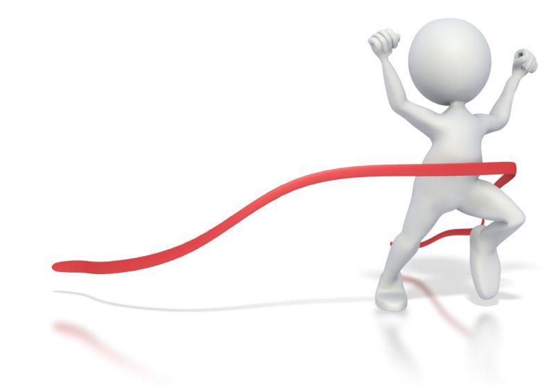 Clipart - Stick Figure Race Finish
