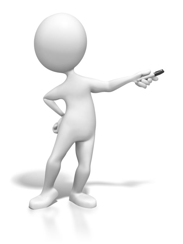Clipart - Stick Figure Presenting With Pen