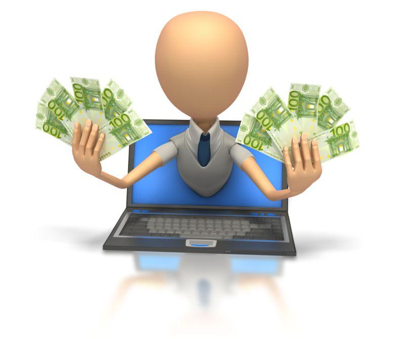 Clipart - Internet Money Euro