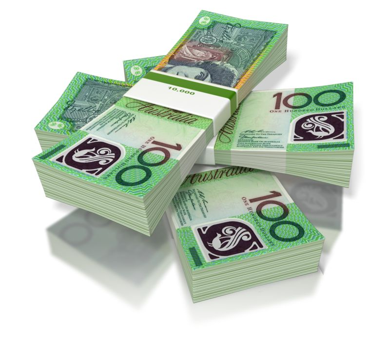 Clipart - Money Three Stack Australian