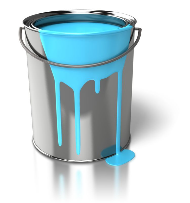 Clipart - Paint Can Dripping