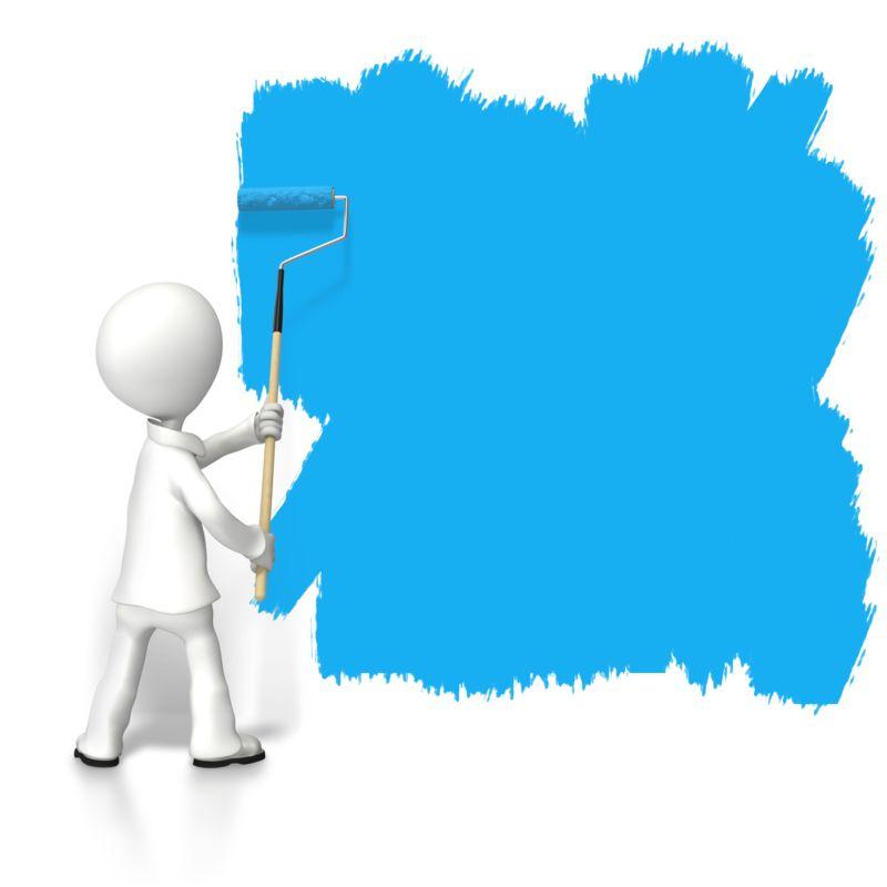 Clipart - Stick Figure Paint Large Space