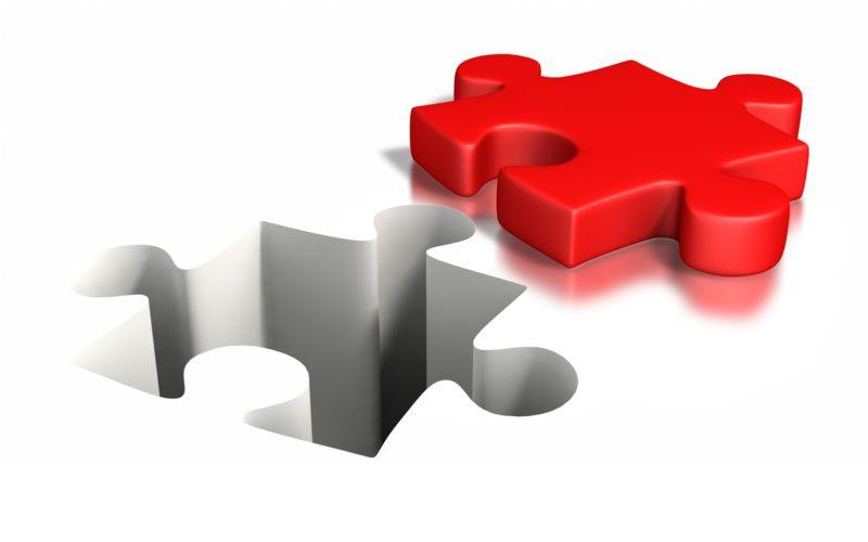 Clipart - Puzzle Piece Impression