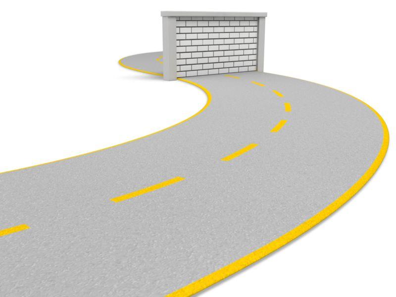 Clipart - Road Block Wall