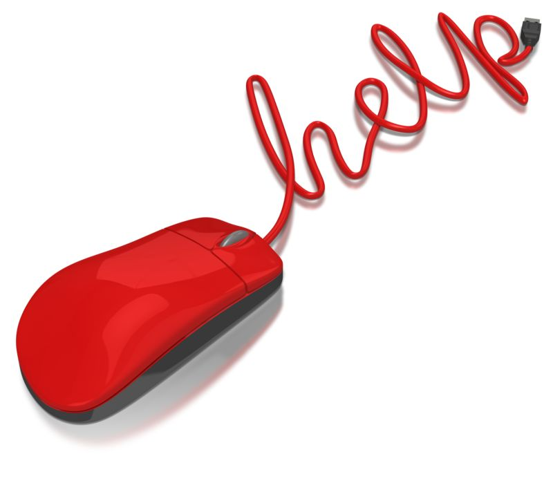 Clipart - Computer Mouse Help
