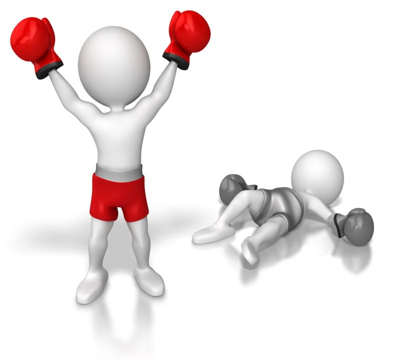 Clipart - Stick Figure Knock Out Competition