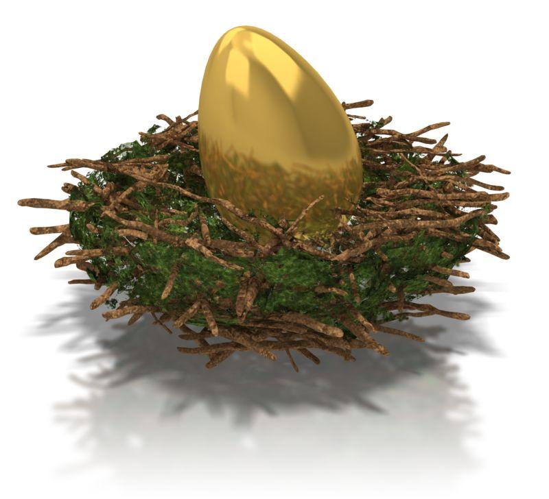 Clipart - Golden Nest Egg