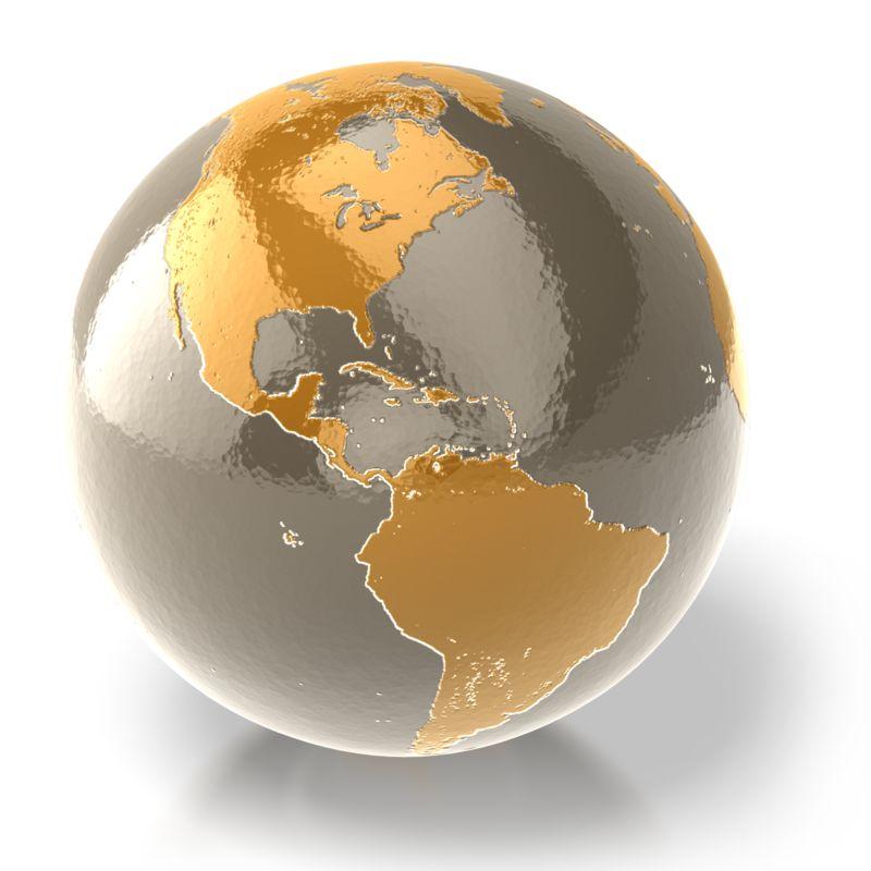 Clipart - Golden Earth