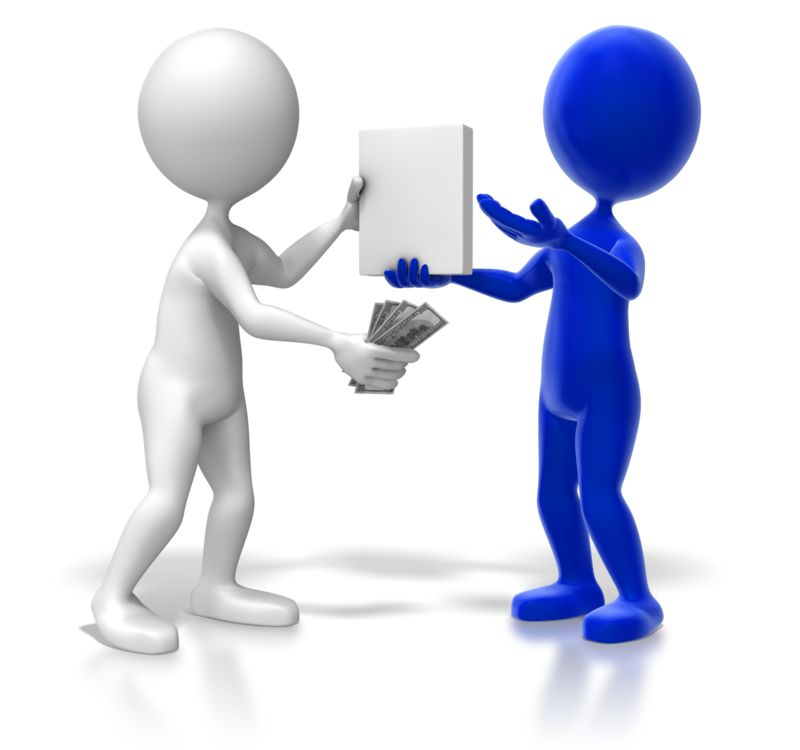 Clipart - Sales Transaction Colored