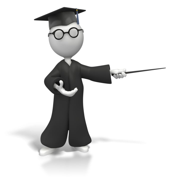 Clipart - Professor With Pointer Display