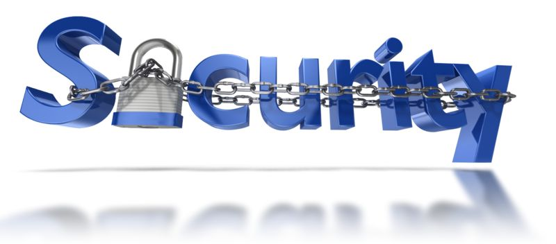 Clipart - Security Text Chain Locked