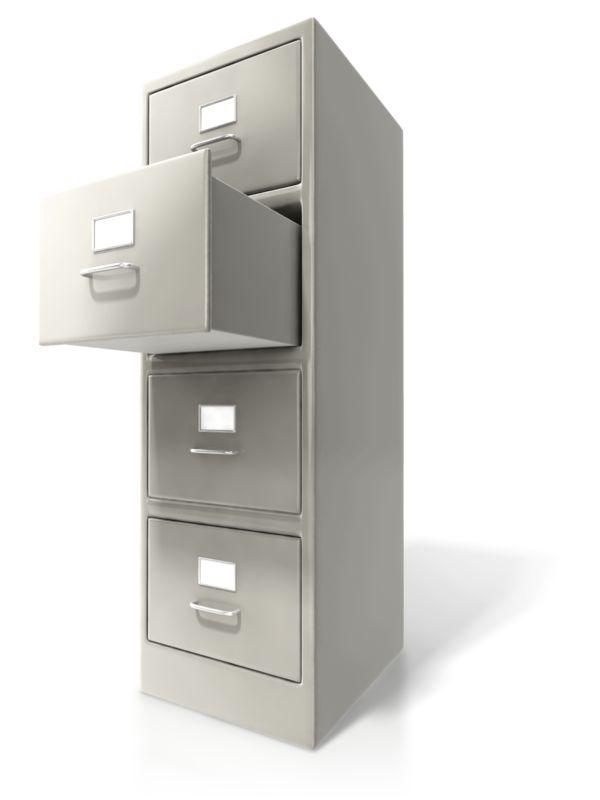 Clipart - Office Cabinet Door Open